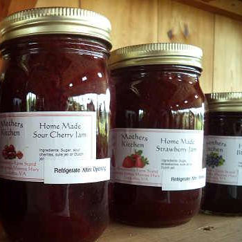 Homemade Jams and jellies made by Brossman's Farmer's Market