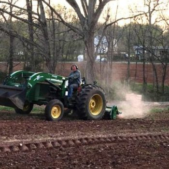 Rick on the tractor